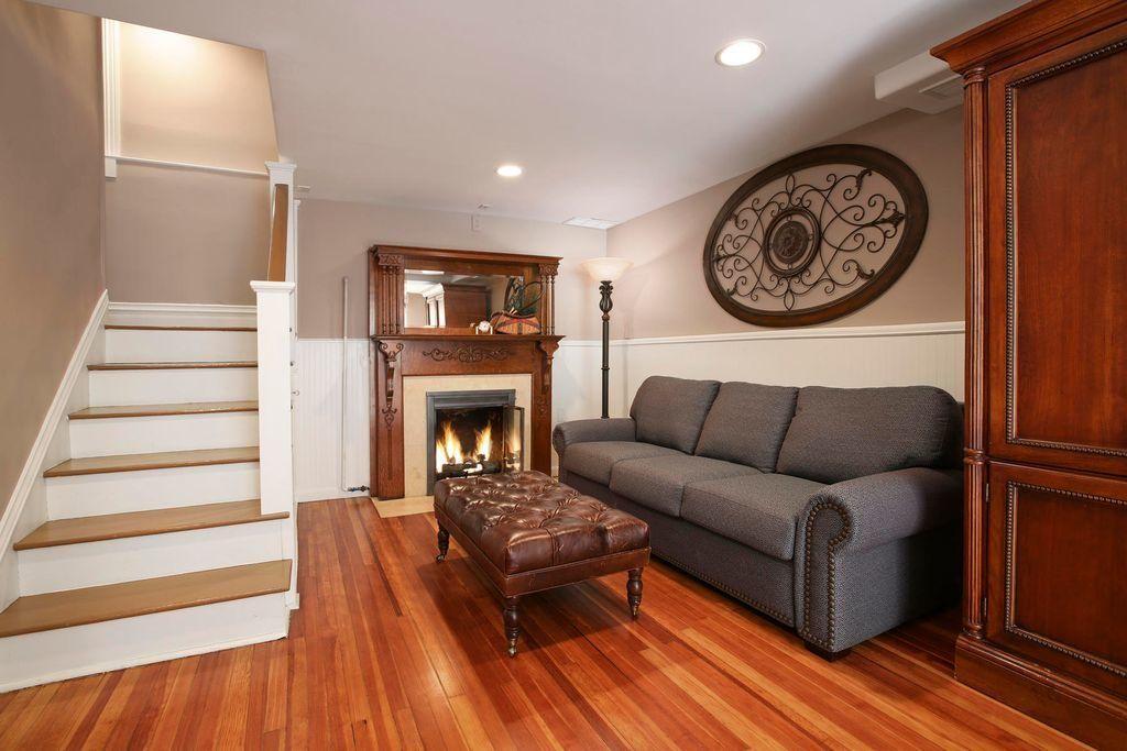 Living Area with Hardwood Flooring